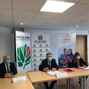 Signature de la convention Ophis- Conseil départemental 63