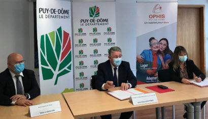 Ophis et le Conseil départemental s'engagent pour des actions communes en faveur de l'habitat des Puydomois.