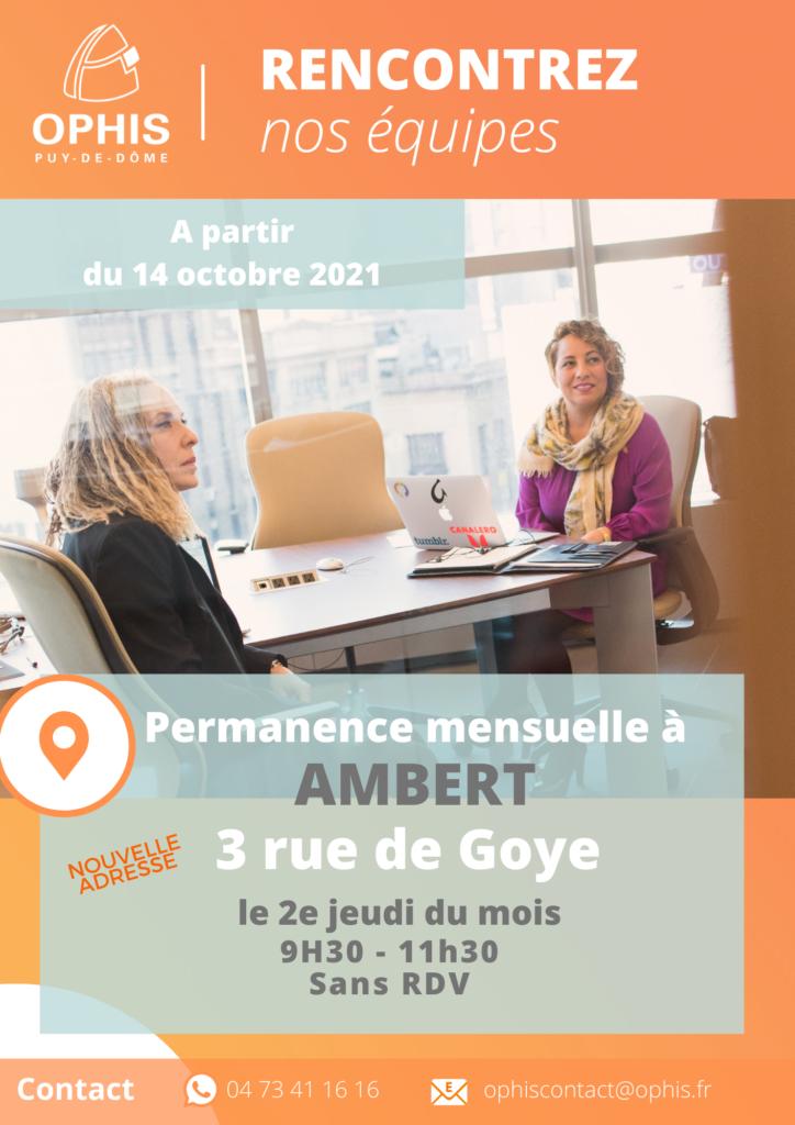 flyers des permanences AMBERT
